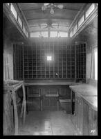 Interior of Brooklyn Rapid Transit mail car 216, January 27, 1940. Built by B.H.R.R. in 1899.