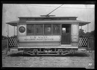 Brooklyn Rapid Transit mail car 216, January 27, 1940. Built by B.H.R.R. in 1899.