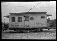 Brooklyn Rapid Transit mail car 222, January 27, 1940. Built by Stevenson in 1895, rebuilt by B.H.R.R.