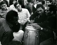 [Drummers, Washington Square Park, circa 1960s].