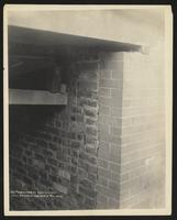 102 Oliver Street, crack in west wall basement entrance, Manhattan