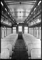 Brooklyn Rapid Transit car 30, undated [c. 1940]. Interior.