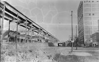Unidentified elevated railroad tracks, undated [c. 1940].