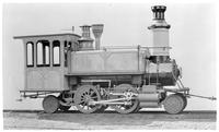 Manhattan, Metropolitan Elevated railroad locomotive 54, undated. Built by the Danforth Locomotive and Machine Company, Paterson, NJ in 1879.
