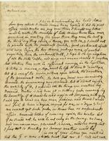 Abigail Adams letter to [Cotton Tufts],  January 18, 1790, page [1].