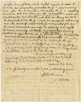 Abigail Adams letter to [Cotton Tufts],  January 18, 1790, page [2].