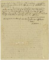 Abigail Adams letter, Quincy, to Ann Harrod Adams, September 13, 1812, verso.