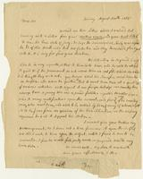 Abigail Adams letter, Quincy, to William Steuben Smith, August 30, 1815, recto.