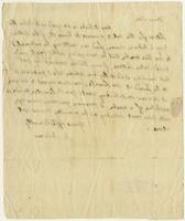 Abigail Adams letter to John Quincy Adams, undated, verso.