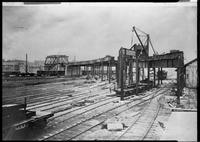 Bronx El, Bronx, 1884. Tracks for E. 132 Street and Alexander Avenue El under construction.
