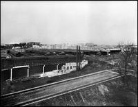Bronx El, Bronx, c. 1905. The 180th Street yards between Third Avenue and Monterey Avenue, c.1905.