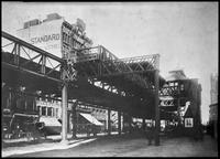 Sixth Avenue El, Manhattan, Dec. 4, 1889. View looking north from Sixth Avenue at 32nd Street.
