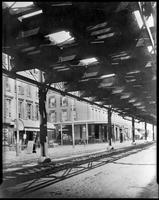 Sixth Avenue El, Manhattan, c. 1888. View looking north from between 42nd and 43rd Streets.