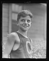 Portrait of a boy at William Carey Camp, Jamesport, New York.