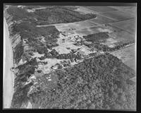 Aerial view facing east of William Carey Camp, Jamesport, New York.