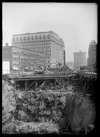Excavation for the New York Times Building, Times Square, New York City, 1902.