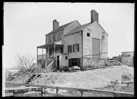 Unidentified house on Kingsbridge Road, Bronx, New York City, 1897. Goat and chickens in the yard.