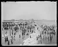 Beachgoers at Coney Island, Brooklyn, New York City, August 6, 1898.