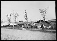 John M. Burke's Ranch' and Annie Oakley's tent, Buffalo Bill's Wild West Show, Brooklyn, New York City, undated (ca. 1894-1896).
