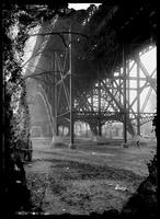 125th St. Viaduct viewed from below, New York City, undated (ca. 1890-1910).