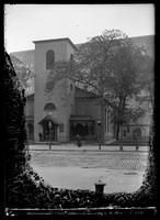 Church of St. Luke in the Fields, Hudson Street, Greenwich Village, New York City, 1899. Emulsion damage.